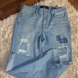 Hollister high rise super skinny crop size 7